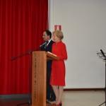 La Presidente prof.ssa Maria Grazia Melchionni illustra la figura del nostro fondatore Ettore De Marco