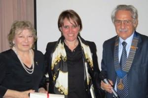 L'arch. Patrizia Cardone e la dr.ssa Concetta Mirisola con il nostro Presidente