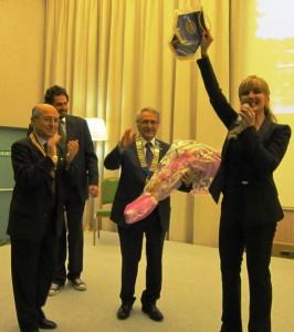 Milly Carlucci con i due presidenti e Svevo Tognalini