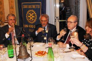 Da Sinistra Martufello, il nostro presidente, Pier Francesco Pingitore e la signora Paola Saraceno