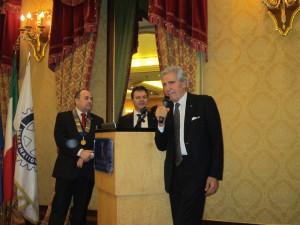 Nino Benvenuti con il nostro Presidente e Giorgio Maccaroni